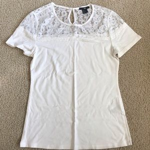 H&M lace top tee